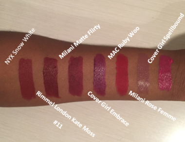 Fall Lip Swatches 2