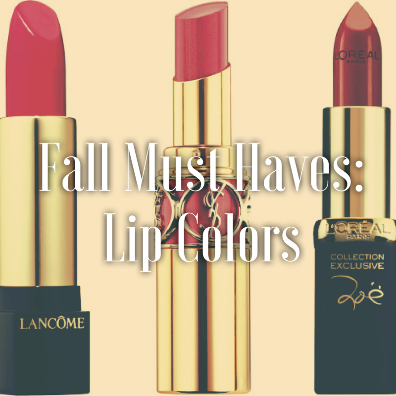 Fall Must Haves: LipColors